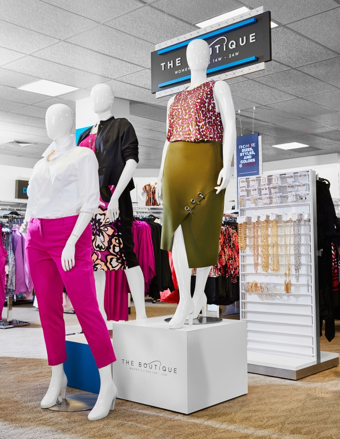 JC Penney's new Boutique plus size area in-store