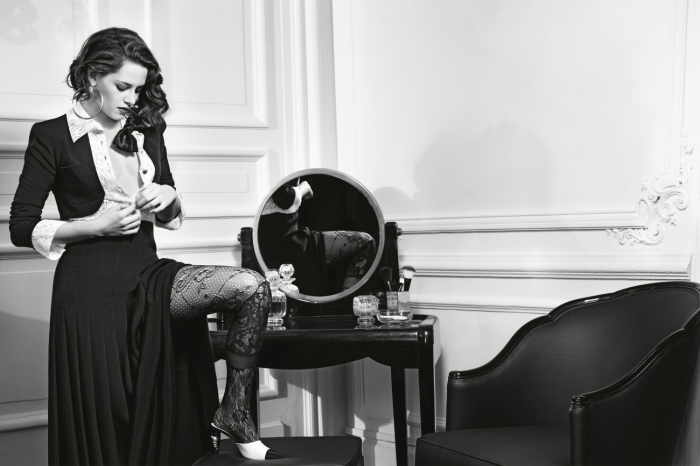 Kristen Stewart for Chanel Paris in Rome ad campaign. Photographs by Karl Lagerfeld.