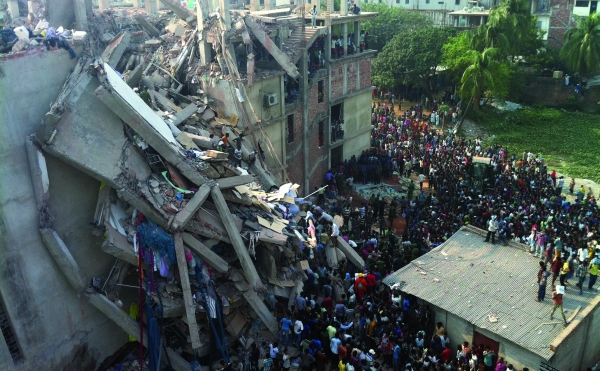 Rana Plaza aftermath, picture courtesy Fashion Revolution
