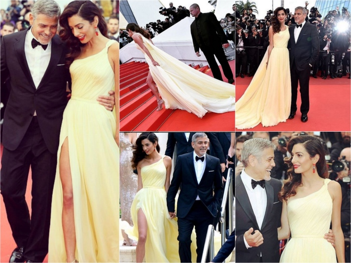 Cannes Film Festival 2016: Amal Clooney in Atelier Versace