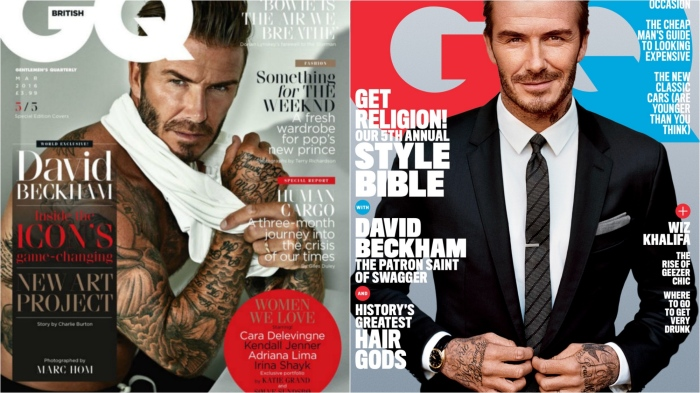 David Beckham GQ covers