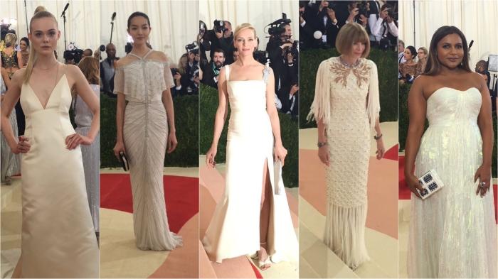 Elle Fanning/Thakoon; Fei Fei Sun; Uma Thurman/Tommy Hilfiger; Ann Wintour; Mindy Kaling/Tory Burch
