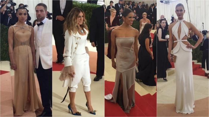 FKA Twiggs/Versace; Sarah Jessica Parker; Misty Copeland/Jason Wu; Karlie Kloss
