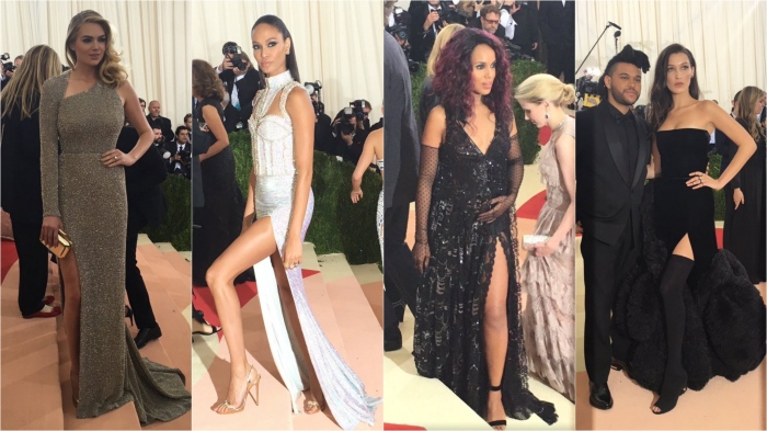 Kate Upton/Topshop; Joan Smalls/Balmain; Kerry Washington/Marc Jacobs; Bella Hadid/Versace