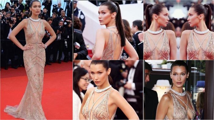 Cannes Film Festival 2016: Bella Hadid in Roberto Cavalli