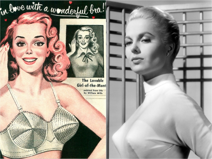 The 1950s bra, support and structure ruled
