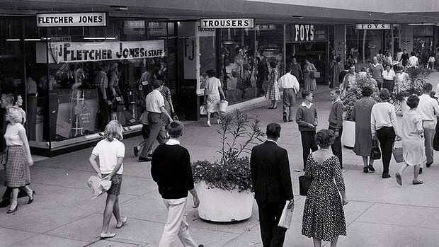 1960s shoppers, Fletcher Jones, Australia