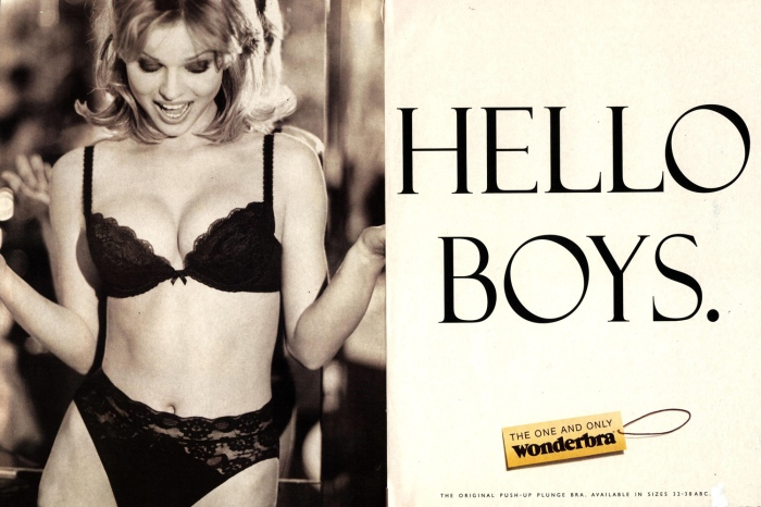 By the late 80s push-up was back and in the 90s Eva Herzigova became a star in one of the most memorable bra ads ever