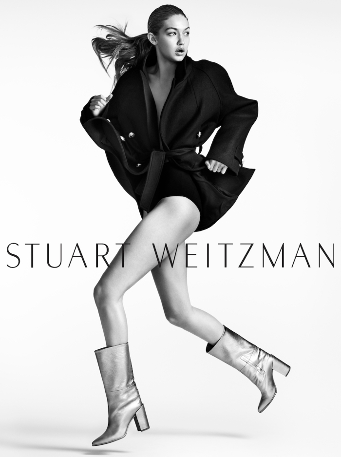 Gigi Hadid for Stuart Weitzman AW16 by Mario Testino