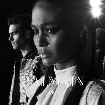 Joan Smalls for Balmain AW16 campaign