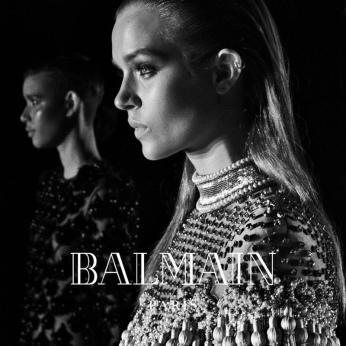 Josephine Skriver for Balmain AW16 campaign