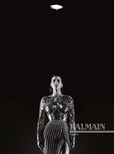Kim Kardashian for Balmain AW16 campaign