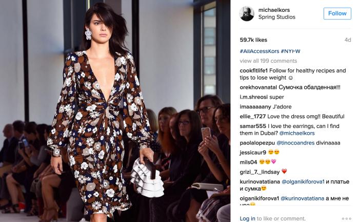 Michael Kors Instagram_Kendall Jenner
