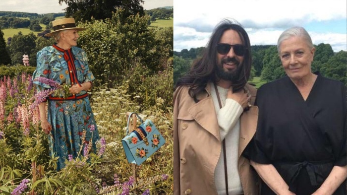 Vanessa Redgrave and Alessandro Michele, Gucci Resort 2017 ads