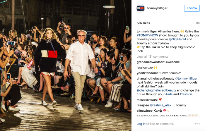 Tommy Hilfiger Instagram_Gigi Hadid
