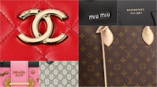 Handbag logos