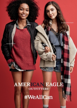 Rowan Blanchard and Yara Shahidi for American Eagle Outfitters #Weallcan