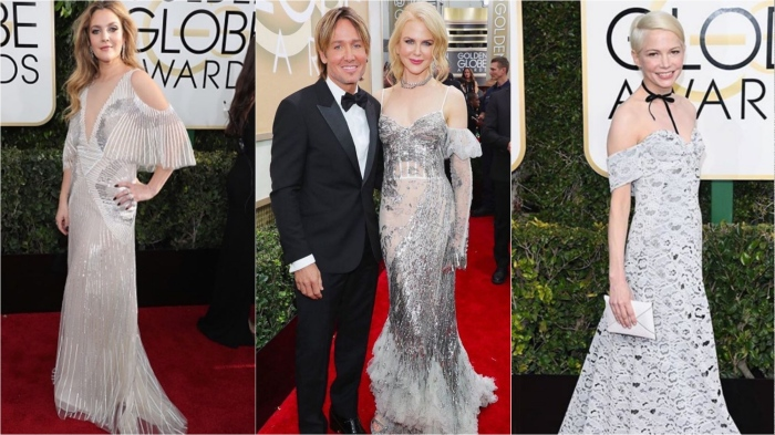 Drew Barrymore in Monique Lhuillier, Nicole Kidman in Alexander McQueen, Michelle Williams in Louis Vuitton