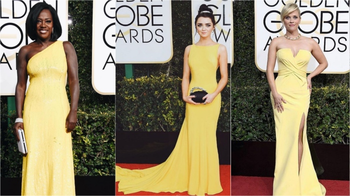 Viola Davis in Michael Kors Collection, Maisie Williams in Ong-Oaj Pairam, Reese Witherspoon in Atelier Versace