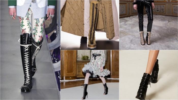Laces l to r: Gucci, Hermes, Giambattista Valli, Giambattista Valli, Ellery AW17