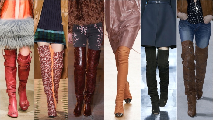 Over knee l to r: Prada, Esteban Cortazar, Isabel Marant, Nina ricci, Dior, Saint Laurent AW17