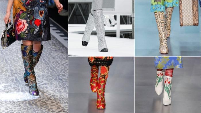 Rich l to r: Dolce & Gabbana, Chanel, Gucci, Gucci, Gucci AW17