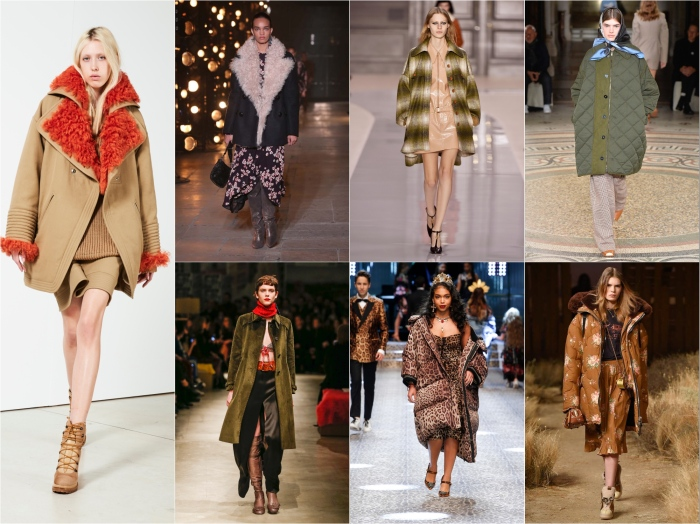 Clockwise from left: Barbara Bui, Isabel Marant, Stella McCartney, Coach, Dolce & Gabbana, Prada AW17