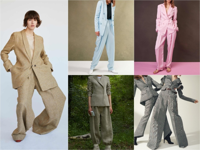 L to r: Creatures of Comfort, Tibi, Tibi, Off-White, Antonio Berardi